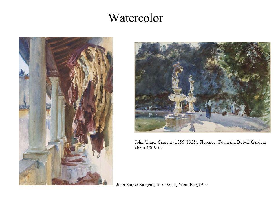 Watercolor John Singer Sargent (1856–1925), Florence: Fountain, Boboli Gardens.