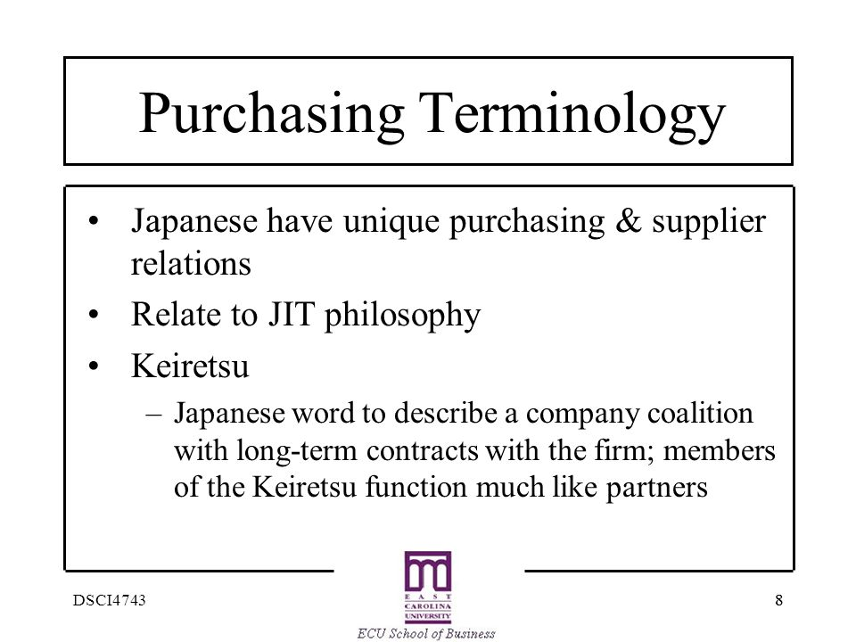 Purchasing Terminology