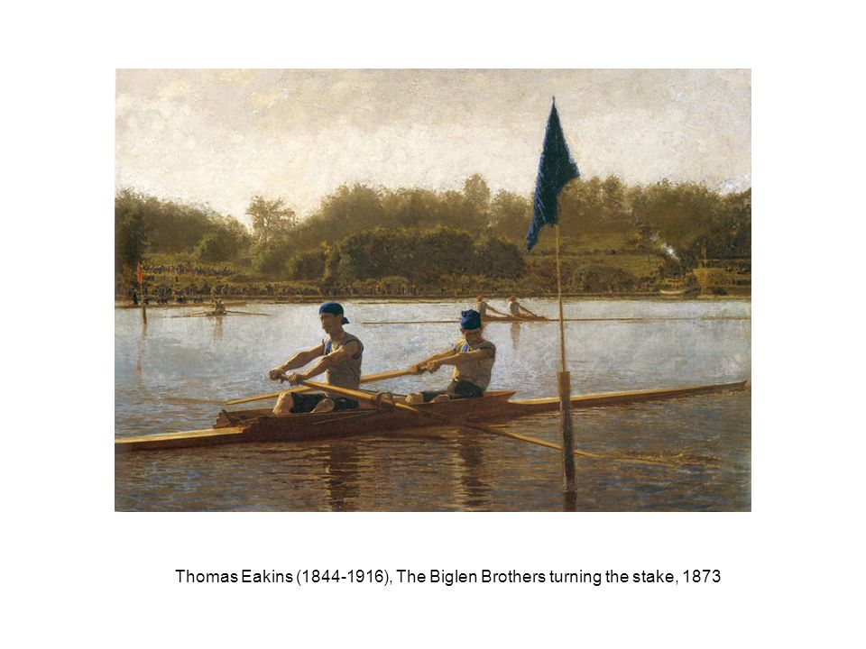 Thomas Eakins (1844-1916), The Biglen Brothers turning the stake, 1873
