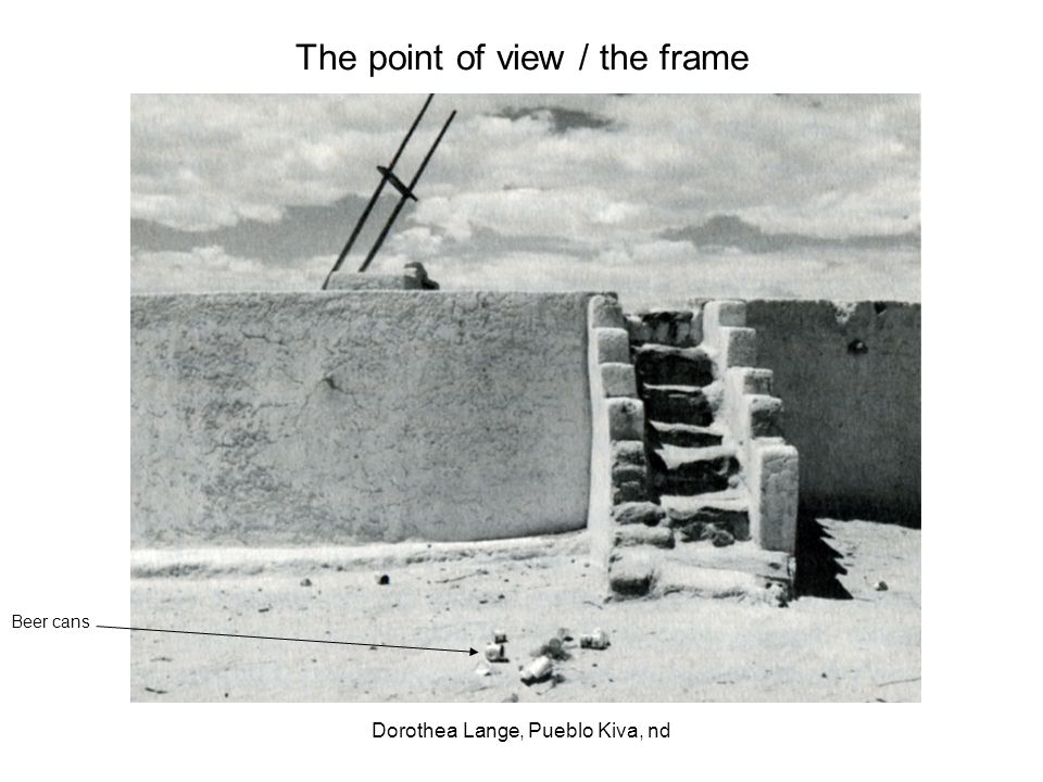 The point of view / the frame