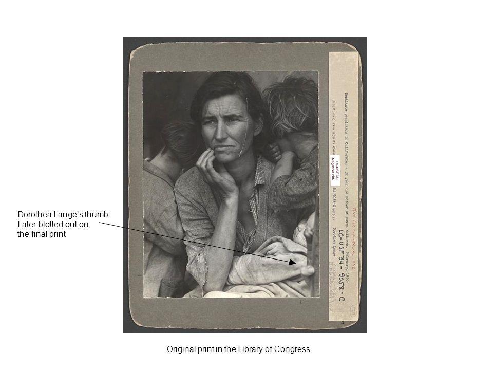 Dorothea Lange's thumb