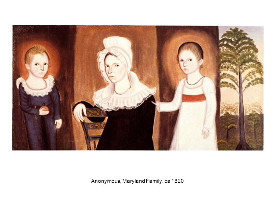Anonymous, Maryland Family, ca 1820