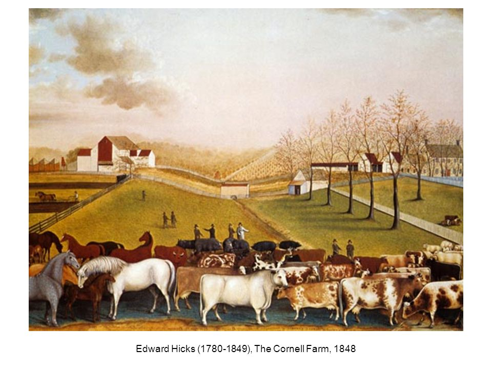 Edward Hicks (1780-1849), The Cornell Farm, 1848