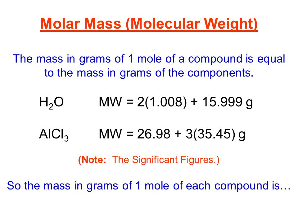 determining the molar mass of a Problem #2 - calculate how many moles are in 170 grams of h 2 o 2 170 grams are given in the text of the problem the molar mass is 340146 grams/mole, which is calculated using the.