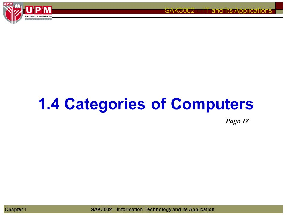 1.4 Categories of Computers
