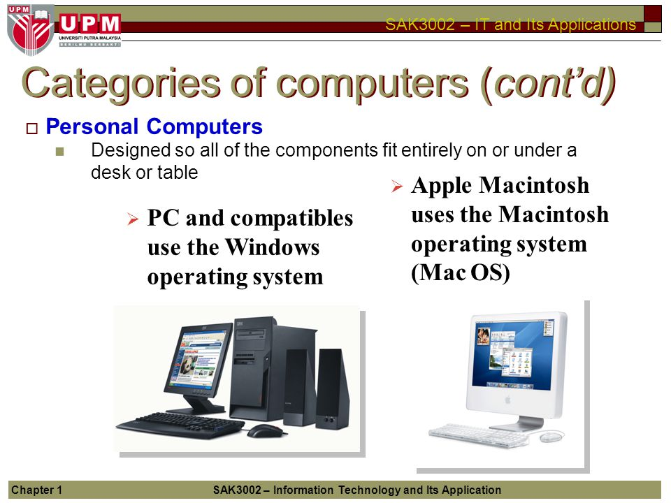 Categories of computers (cont'd)