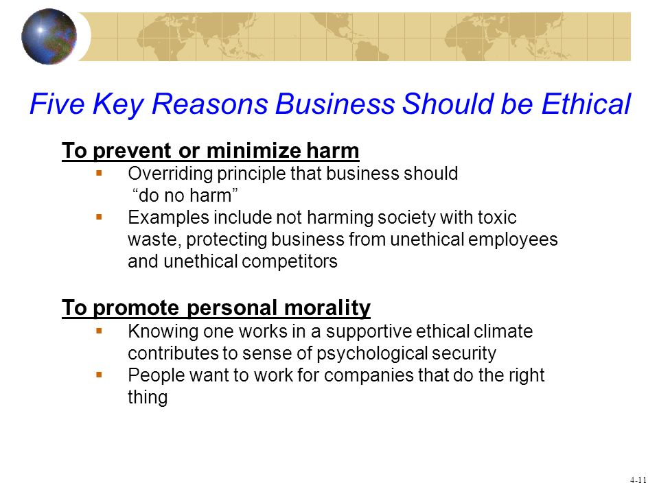 why be ethical We are going through a time of profound change in our understanding of the ethics of applied social research from the time immediately after world war ii until the early 1990s, there was a gradually developing consensus about the key ethical principles that should underlie the research endeavor.