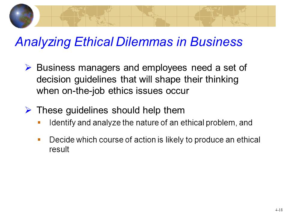 Analyzing Ethical Dilemmas in Business