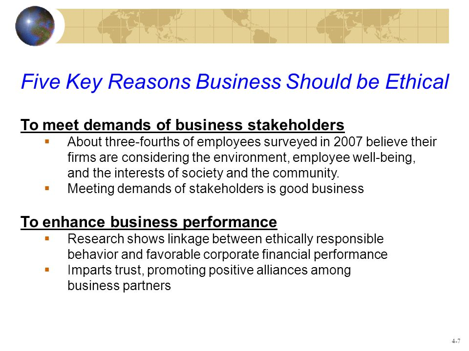 Five Key Reasons Business Should be Ethical