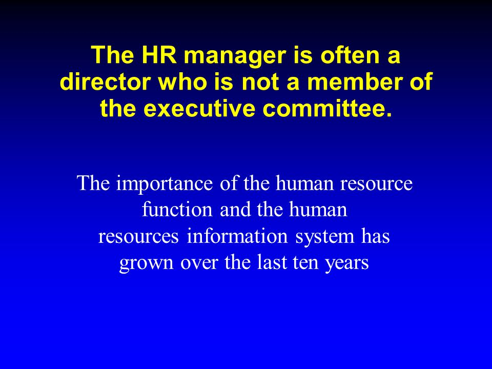 the significance of human resource information Hrms, or human resource management system, connects human resource management and information technology through hr software find the right hrms today.