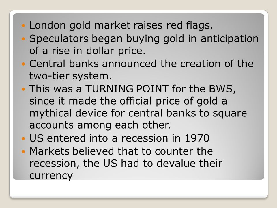 London gold market raises red flags.
