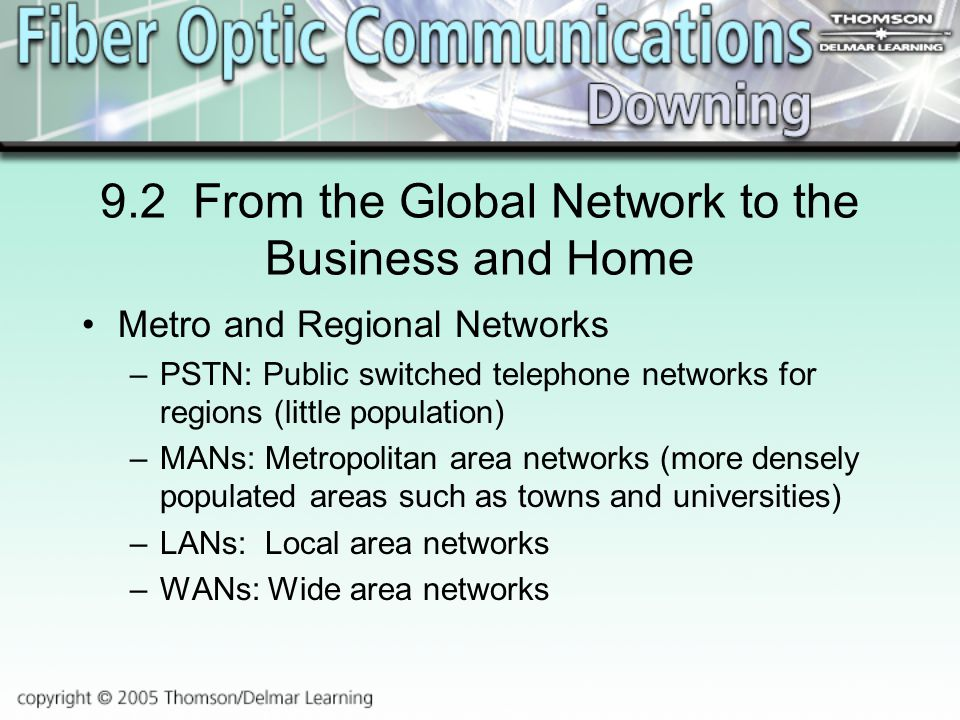 9.2 From the Global Network to the Business and Home