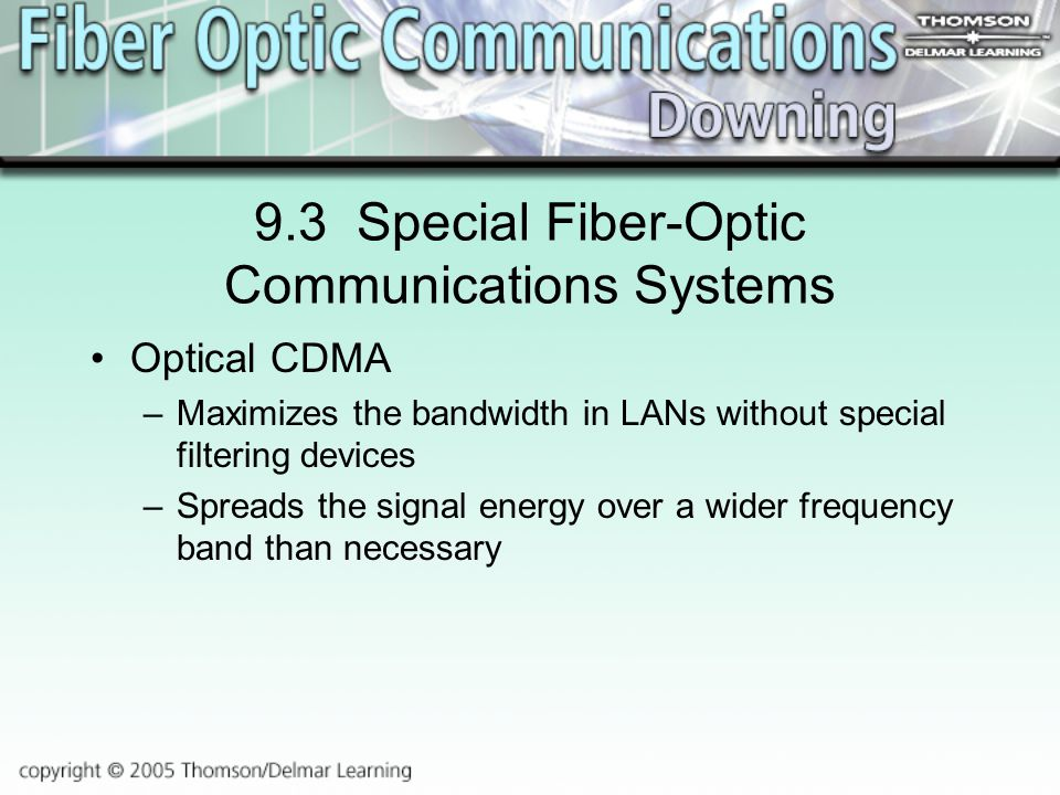 9.3 Special Fiber-Optic Communications Systems