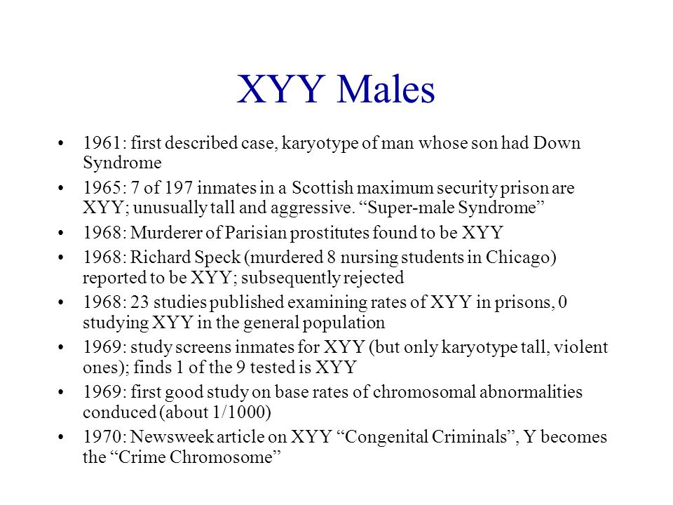 a study of the xyy syndrome