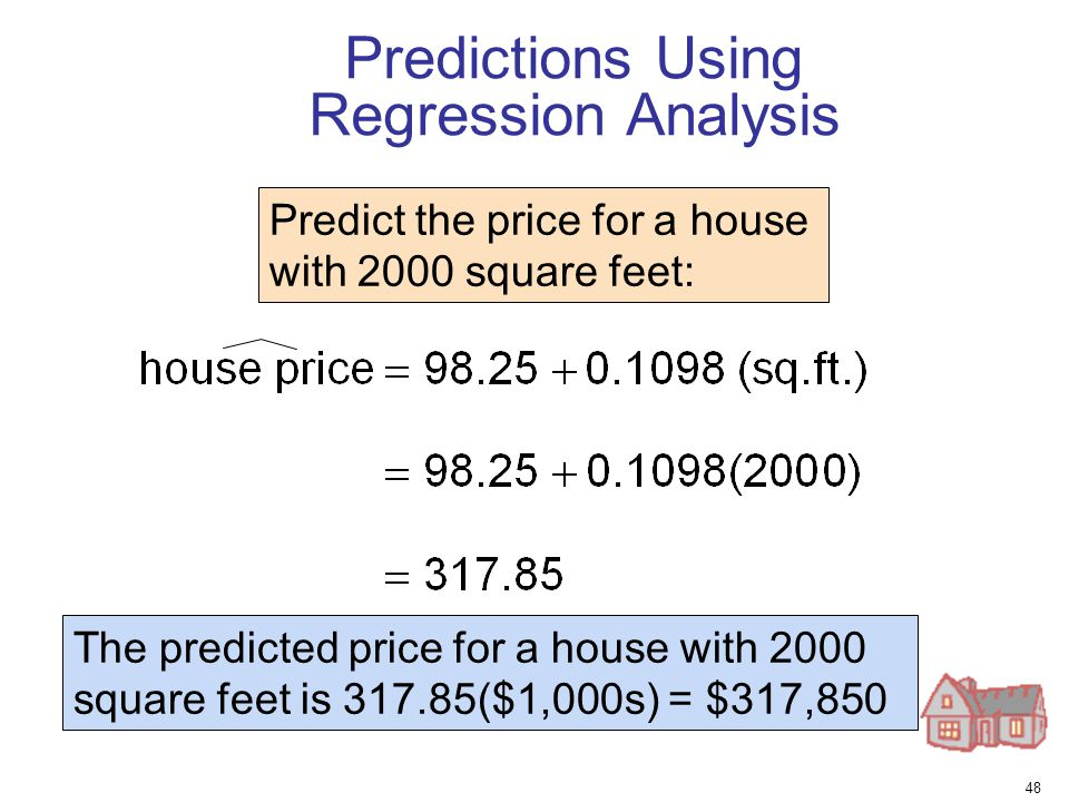 Predictions Using Regression Analysis