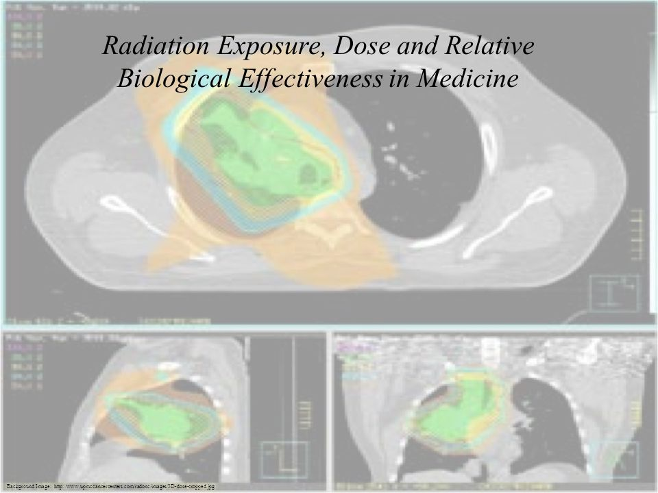 Radiation Exposure, Dose and Relative Biological Effectiveness in Medicine