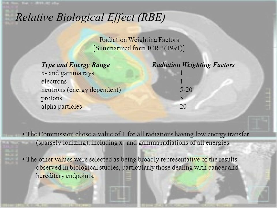Relative Biological Effect (RBE)