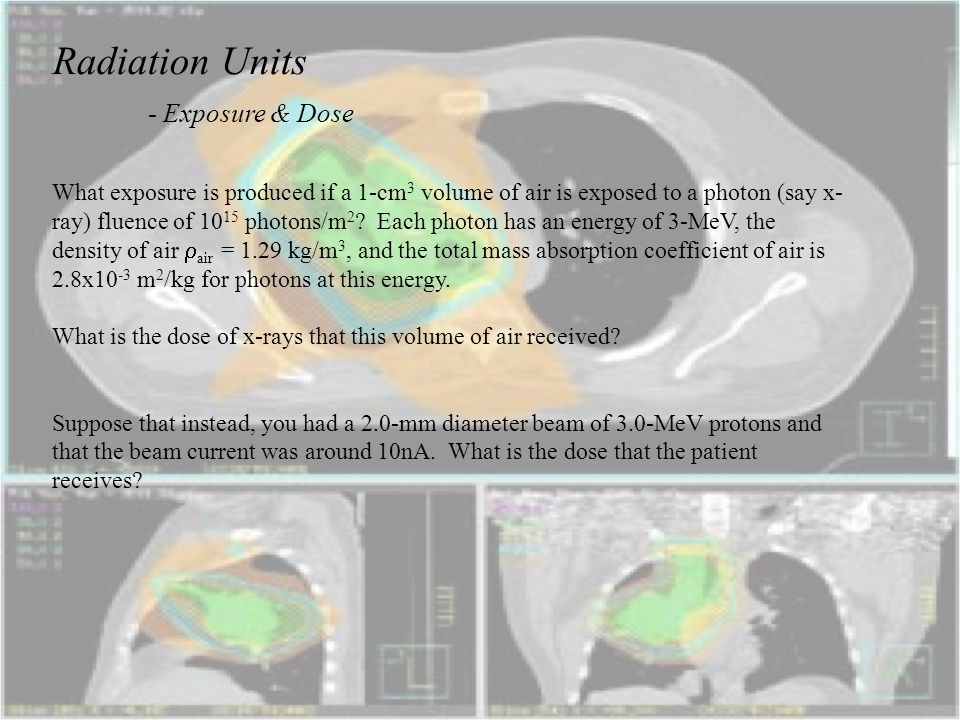 Radiation Units - Exposure & Dose