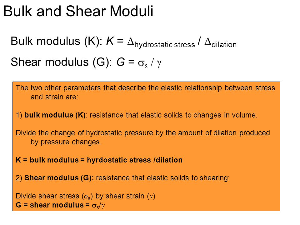 relationship between three modulus of elasticity