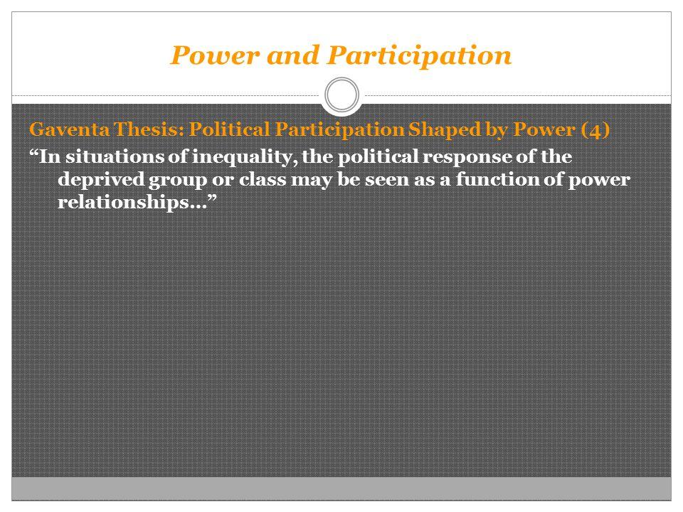 Powerlessness thesis