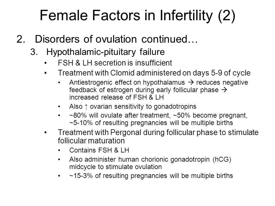 Failure to ovulate with clomid