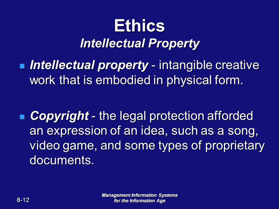 """ethics and intellectual property """"computer and information ethics"""", in the present essay such as ownership of software and intellectual property, computing and privacy."""