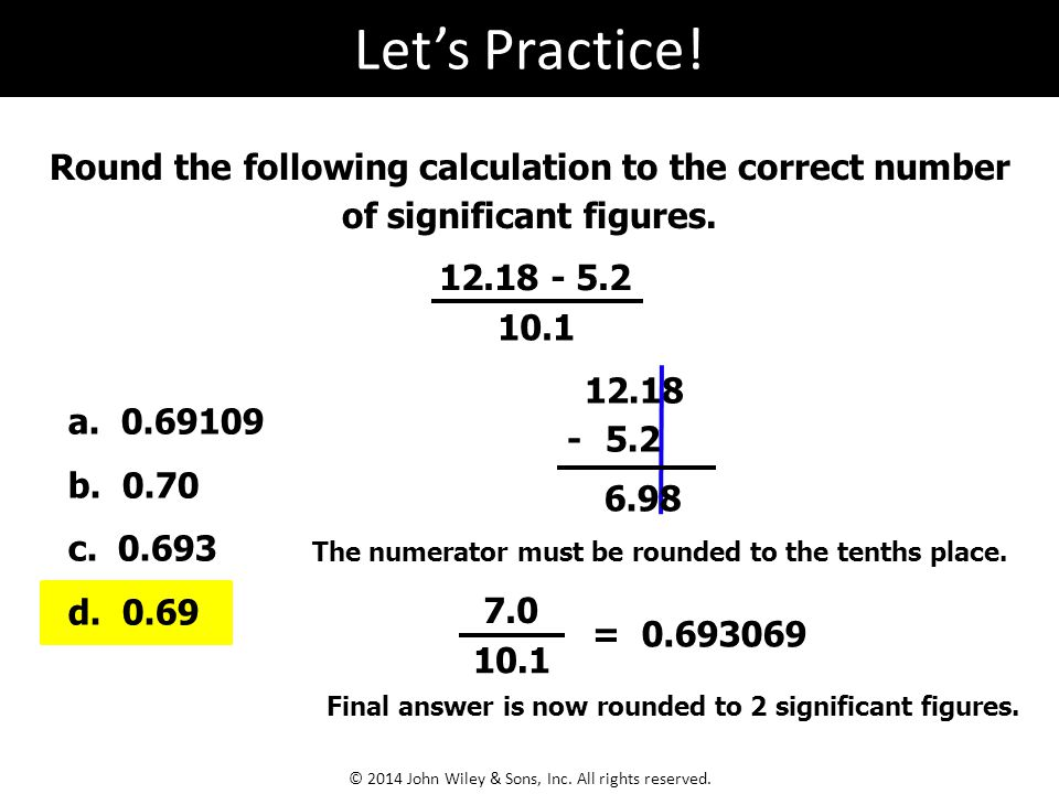 how to find the correct number of significant figures