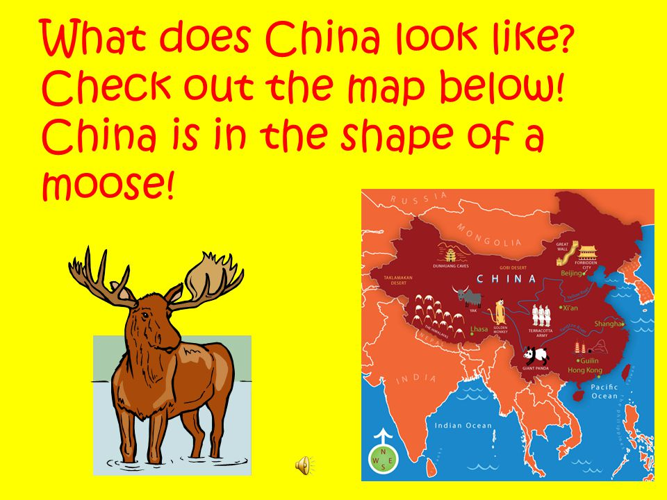 What does China look like. Check out the map below
