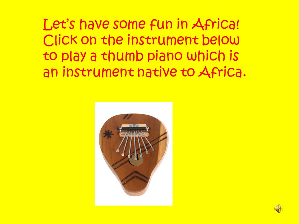 Let's have some fun in Africa