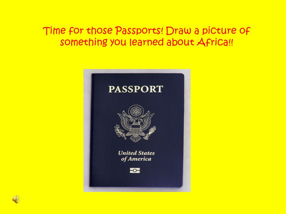Time for those Passports