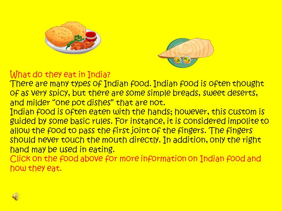 What do they eat in India