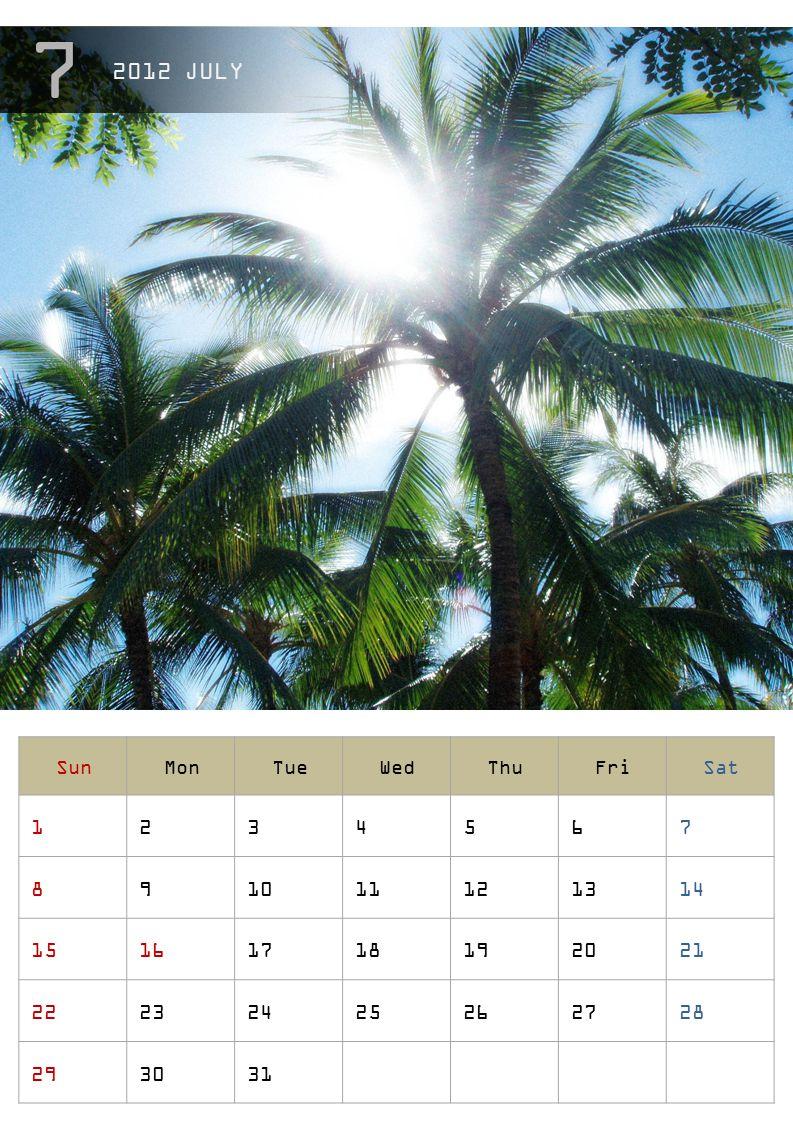 2012 JULY Sun. Mon. Tue. Wed. Thu. Fri. Sat. 1. 2. 3. 4. 5. 6. 7. 8. 9. 10. 11. 12.