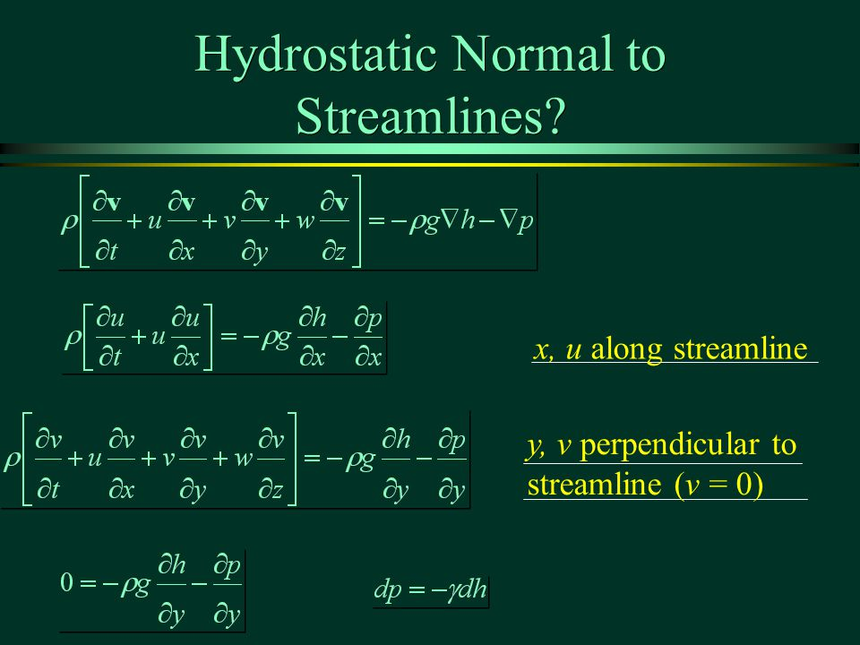 Hydrostatic Normal to Streamlines