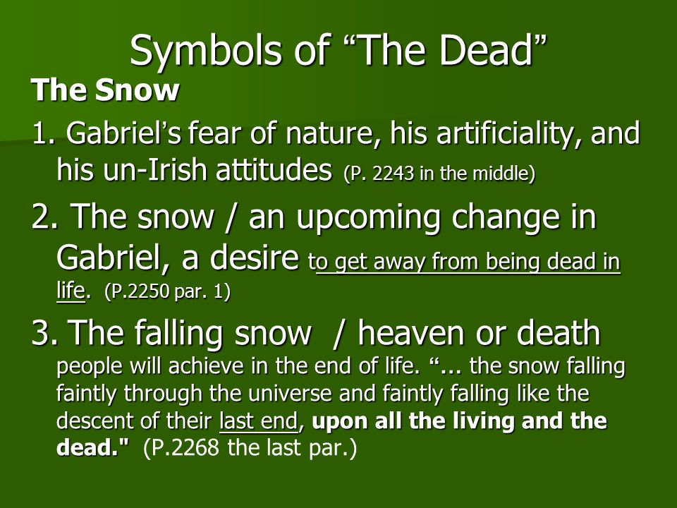 An analysis of the short story 'The Dead' by James Joyce
