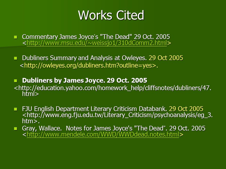 james joyce the dead James joyce's short story the dead[1], the final story in his dubliners collection,  has been regarded as a literary masterpiece and was, and still.
