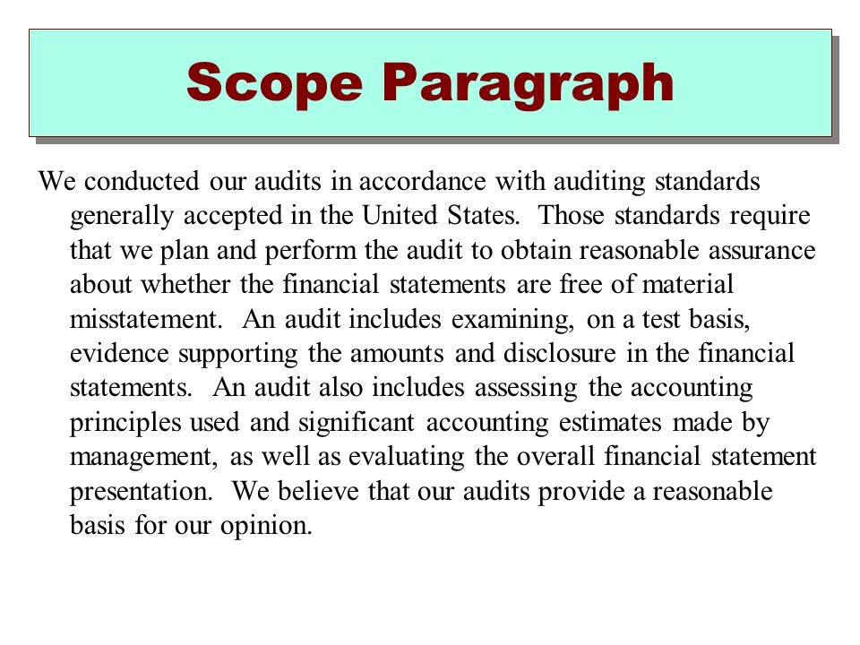 Scope Paragraph