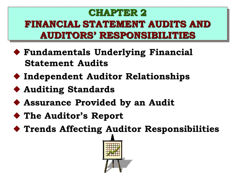 CHAPTER 2 FINANCIAL STATEMENT AUDITS AND AUDITORS' RESPONSIBILITIES