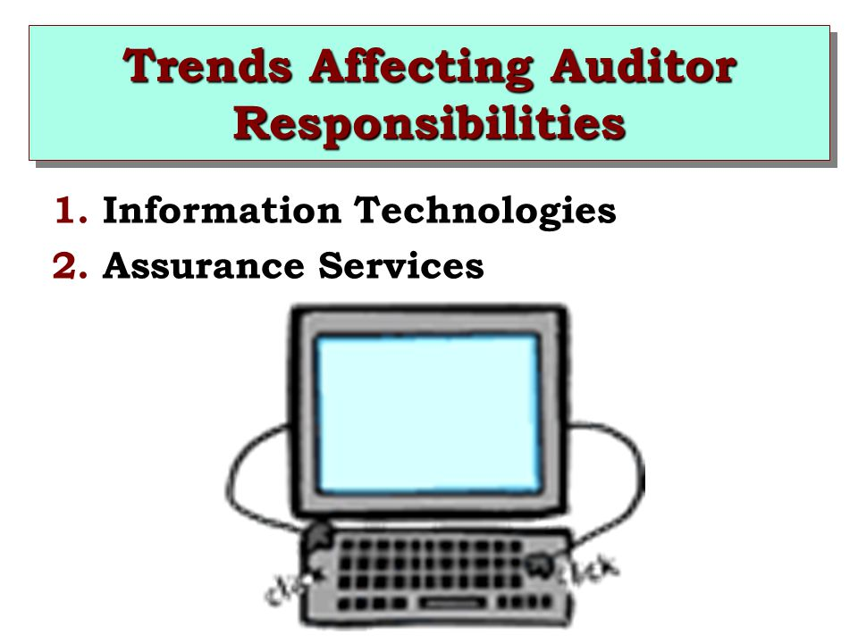 Trends Affecting Auditor Responsibilities