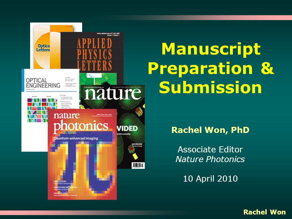 Manuscript Preparation Submission