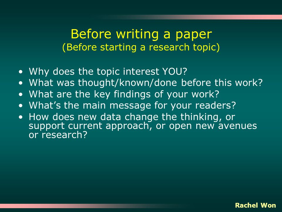 why research papers Presenting what you have learned from research can be just as important as performing the research we write research papers because research paper presents an original thesis, or purpose statement, about a topic and develops that thesis with information gathered from a variety of sources.