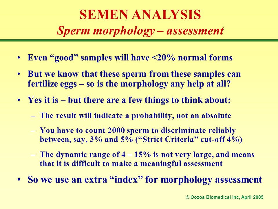 Attitude normal sperm analysis didnt catch