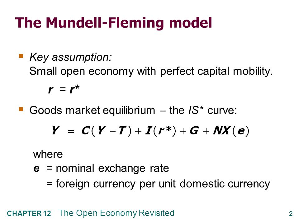 The IS* curve: Goods market eq'm