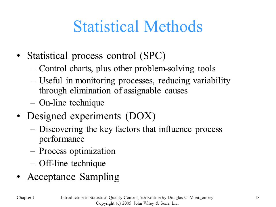 Introduction to Statistical Quality Control, 5th edition - ppt ...