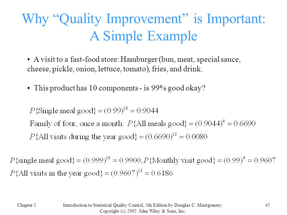 introduction to statistical quality control  5th edition