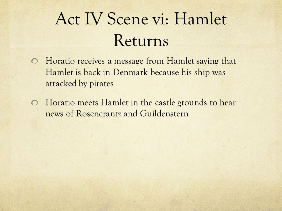 hamlet act iv summaries and laertes Hamlet act iv study guide scene 1 & 2 1 how does the queen protect hamlet 4 why does laertes break into claudius's chamber would you say that the events of act iii and act iv support or dispute hamlet's words why or why not author.