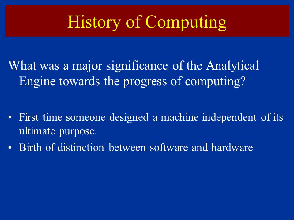 """history of computing hardware Computer - history of computing: a computer might be described with deceptive simplicity as """"an apparatus that performs routine calculations automatically"""" such a definition would owe its deceptiveness to a naive and narrow view of calculation as a strictly mathematical process."""