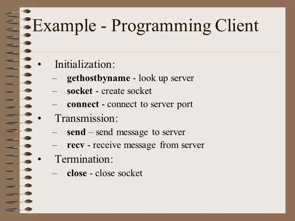 Example - Programming Client