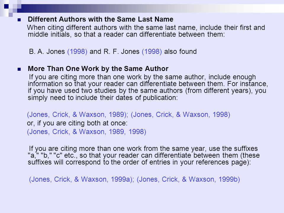 Different Authors With The Same Last Name