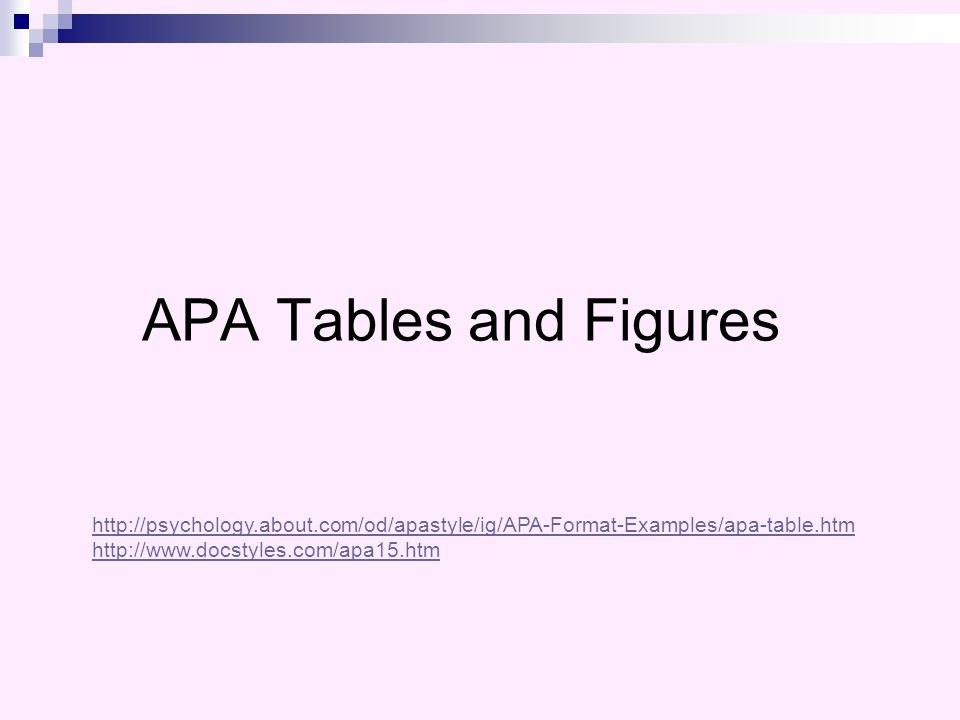apa format table