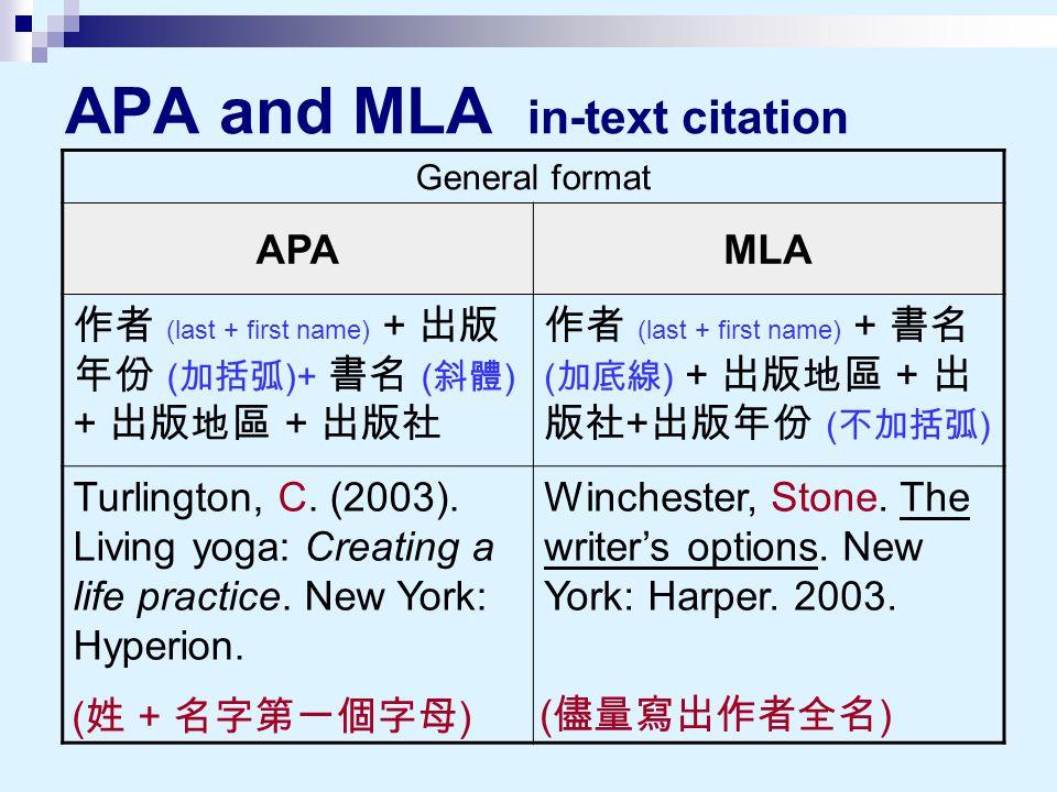 Science papers mla or apa